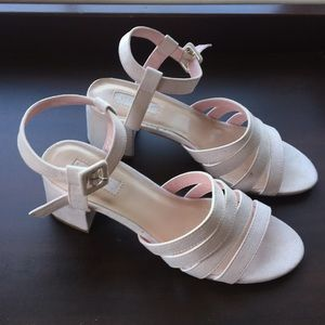 Forever 21 Pink Strappy Heeled Sandals